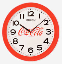 "NEW SEIKO  COCA COLA  WALL CLOCK 14.4 "" IN DIAMETER QXA922RRH"