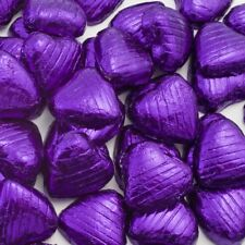 Purple Foil Chocolate Love Hearts Wedding Favours X30