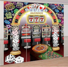 CASINO Scene Setter gambling party wall decoration photo backdrop slots craps