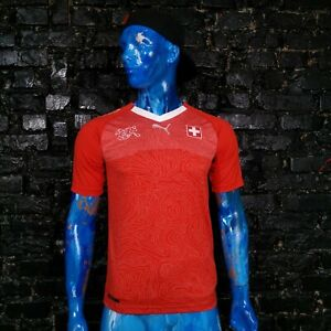 Switzerland Team Jersey Home shirt 2018 - 2020 Red Puma Trikot Mens Size S