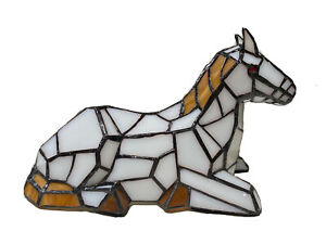 Tiffany Stained Glass Colt Pony Table Lamp Night Lighting Home Decoration Gifts