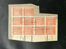 TIMBRES D'ALLEMAGNE : SACHSEN / SAXE 1945 N° 11 X 10 TIMBRES SUR FRAGMENT 8 3 46