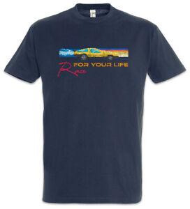 Race For You Life T-Shirt Car Racer Gamer Gaming Pixel Retro Arcade 8 16 Bit