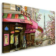 Canvas Bild LEINWANDBILD Kunstdruck XXL Wandbild Paris CAFÉ Zeichnung 3D 1392