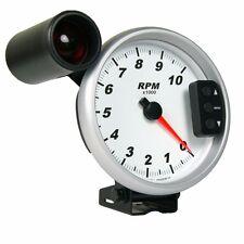 "5"" Pedestal Tachometer with Peak Recall, Shift Light, White Dial - Refurbished"