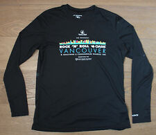 BROOKS Women's Small Black Running Jogging Long Sleeve Shirt Vancouver Marathon