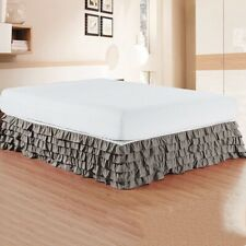 Solid color 5 Layers Ruffled Bed Skirt Bed Cover Without Surface for  Hotel Home