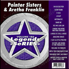 Karaoke Cd+G Legends Vol-186 Pointer Sisters & Aretha Franklin New with Print