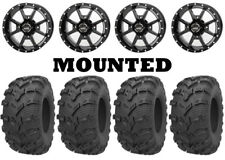 Kit 4 Kenda Bearclaw Evo K592 Tires 25x8-12/25x10-12 on Frontline 556 Black Fxt(Fits: More than one vehicle)