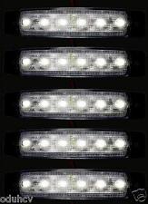 5x 24V LED FRONT WHITE CLEAR SIDE MARKER LIGHTS TRUCK CHASSIS TRAILER CARAVAN