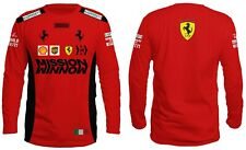 T Shirt Long Tee New 2020 Scuderia FERRARI Mission F1 Team Motosport Red Vettel