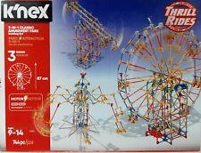 K'Nex (17035) 3 in 1 Classic Amusement Park Building Set 744 Pcs, Opened Box.