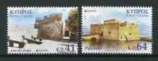 Cyprus 2017 MNH Castles Pafos Larnaca Castle Europa 2v Set Architecture Stamps