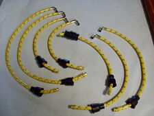 1935-40 Chevrolet Yellow / Black & Red Tr. Lacquered Cloth Spark Plug Wire Set