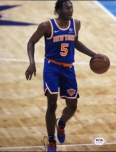 Immanuel Quickley Signed Autographed New York Knicks 8x10 Photo PSA/DNA