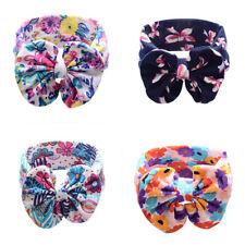 AU_ DI- KQ_ Baby Cute Fashion Flower Printing Big Bow Cloth Headband Beautiful