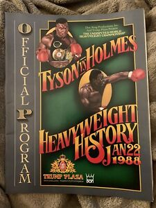 Mike Tyson Larry Holmes Boxing Program 1/22/88 Trump Plaza With Celebrity List