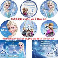 Tortenaufleger Tortenbild Geburtstag Disney Frozen Eiskönigin Elsa Kuchendeko