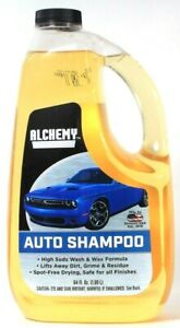 1 Bottle Alchemy Auto Care 64 Oz High Suds Wash & Wax Formula Safe Auto Shampoo