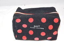 Marc Jacobs Dot Black Red Cosmetic Make up Purse Organizer Travel Bag