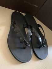NIB $620 Bottega Veneta Men Crocodile Flip Flop Sandal Shoes Black 7 US/40 Euro