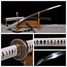 JAPAN WALKING DEAD SAMURAI SWORD PATTERN STEEL CLAY TEMPERED BLADE BATTLE READY