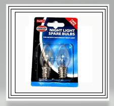 2 x Eveready Night Light Bulbs 7W E14 Lamp SES Small Edison Screw Pygmy 230V