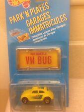Hot Wheels Park N Plates Garages Immatricules VW Bug Yellow Volkswagen Beetle