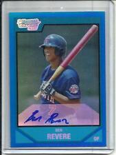 Ben Revere 2007 Bowman Chrome Blue Refractor Autograph #016/150