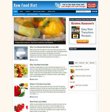 RAW FOOD DIET WEBSITE BWITH AFFILIATES + FREE DOMAIN & HOSTING
