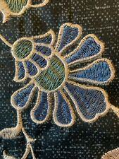 "Embroidered Flowers Rectangle Throw Pillow Indigo Blue - Threshold- 16""x12"""