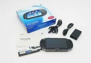 SONY PS Vita PCH-1000 / 1100 Black Model OLED Wi-Fi w/Box in Near Mint Condition