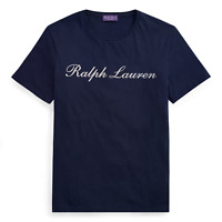 Ralph Lauren Purple Label Short Sleeve Cotton Jersey Logo Graphic Tee T Shirt