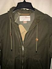 NEW WITH TAGS FILSON MADE IN USA BUCKLAND COVER CLOTH ZIP HOODED JACKET XS