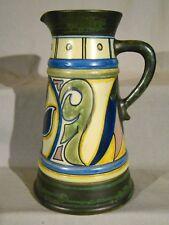 Plateel Arts & Crafts Gouda Zuid Holland Dutch Art Nouveau Damascus Pitcher Vase