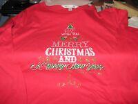 WOMENS CHRISTMAS TSHIRT TOP SIZE LARGE HOLIDAY CHRISTMAS TREE TOP SHIRT RED NEW