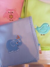 Newborn soft fleece baby-crib-moses blanket 3 colours (Personalised for free)