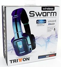 NEW Mad Catz Tritton Wireless Swarm Headset Bluetooth PS4/PC/iPad/iPhone 7+ BLUE