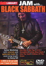Lick Library JAM WITH BLACK SABBATH Learn Guitar Style Tony Iommi Video 2 DVD CD