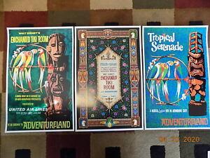 "Disneyland Enchanted Tiki Room ( 11"" x 17"" ) Poster Prints ( Set of 3 )"