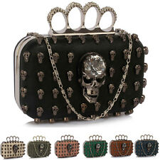 Skull Clutch Bag Ladies Evening Handbag New Womens Unique With Chain Shoulder