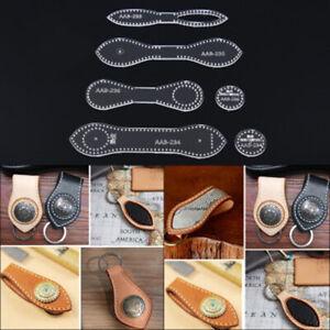 Leather Craft Acrylic Perspex Cutting Keyfob keychain Stencil Template S^BI