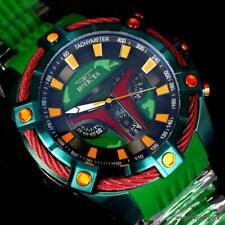 Invicta Bolt Viper Star Wars Boba Fett 54mm Green Chronograph Rubber Watch New