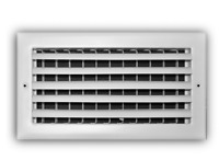 Everbilt 12 in.x 6 in.1-Way Steel Adjustable Curved Blade Wall/Ceiling Register