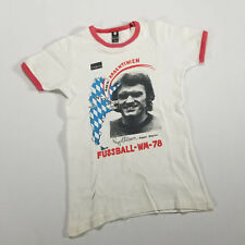 VTG '78 Argentina World Cup Ringer T Shirt Sepp Maier Germany Youth XL/Adult XS