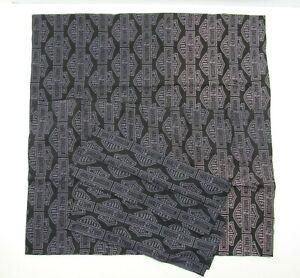 Set 2 HARLEY DAVIDSON Curtains Drapes Logo Black Silver Biker Motor Scrap Materi
