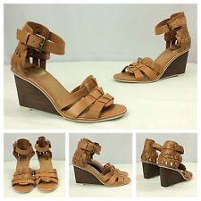 Dolce Vita New Sexy Brown Strappy Gladiator Platform Wedge Sandals Heels 9 $99