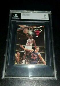 Michael Jordan Cards 1987-88 Pocket Schedule! BGS 6! Rare!