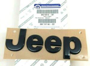 2015-2020 Jeep Renegade front hood gloss black Nameplate Emblem new OEM