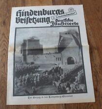 """Deutsche Illustrierte 8. August 1934 - """"Hindenburgs Beisetzung"""" 2. Sondernummer"""